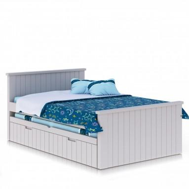 מיטה וחצי לילדים בצבע אפוקסי