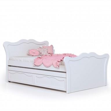 מיטה וחצי בעיצוב פרובנס