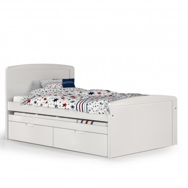 מיטה וחצי פינות מעוגלות