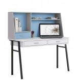 שולחן כתיבה לילדים ונוער מעוצב רטרו-תכלת
