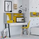 שולחן כתיבה לילדים ונוער מעוצב רטרו-לבן